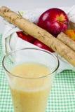 Burdock Root Apple Juice. Organic fruit juice combination of burdock root and fresh apples Stock Image