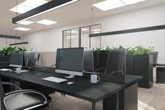 Bureau élégant avec l'ordinateur illustration de vecteur