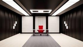 Bureau 3d intérieur Photographie stock