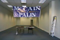 Bureau abandonné de McCain-Palin à Pittsburgh Photo stock