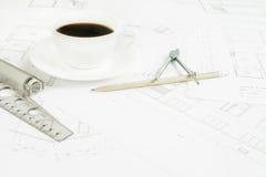 Bureau architectural image libre de droits
