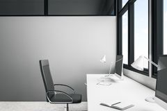 Bureau avec l'espace de copie illustration stock