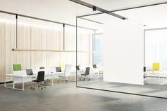 Bureau binnenlandse, groene en gele stoelen, muur Royalty-vrije Stock Fotografie