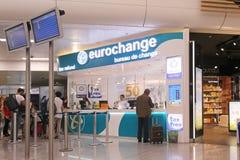Bureau d'échange d'aéroport Photos stock