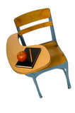 Bureau d'école avec la pomme photo stock