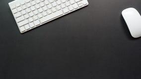 Bureau d'espace de travail avec l'espace de copie de clavier Photos libres de droits