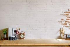 Bureau d'espace de travail et espace confortables de copie Images libres de droits