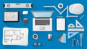 Bureau d'ingénieur de construction illustration libre de droits