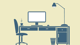 Bureau d'ordinateur Images libres de droits
