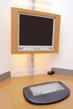 Bureau d'ordinateur dans un hôtel Image libre de droits