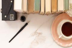 Bureau de bibliothécaires Photographie stock