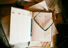 bureau de cahier de clavier d'ordinateur Photo libre de droits