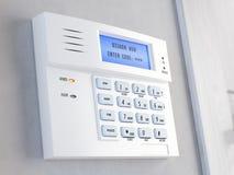 Bureau de concept d'alarme de sécurité à la maison Clavier numérique d'alarme de sécurité à la maison Photos stock