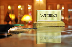 Bureau de concierge Photo stock