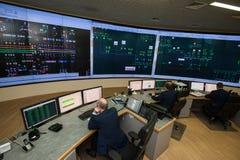 Bureau de contrôle de compagnie d'énergie Image stock