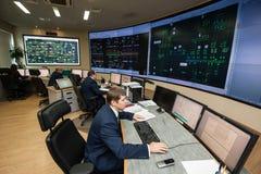 Bureau de contrôle de compagnie d'énergie Photographie stock