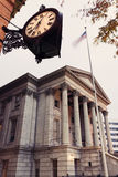 Bureau de douane et horloge historique en Norfolk Photo libre de droits