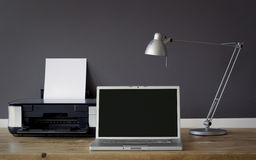 Bureau de face de Home Office  Photo stock