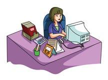 Bureau de femmes illustration stock