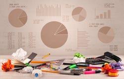 Bureau de graphique de graphique circulaire Image stock