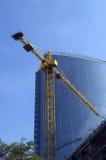 Bureau de grue et de construction Photo stock
