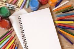 Bureau de livre d'école Photographie stock libre de droits