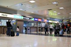 Bureau de location de voiture d'aéroport Image stock