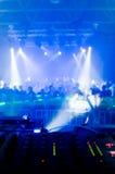 Bureau de mélangeur de musique Photo stock