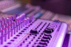 Bureau de m?langeur de studio d'enregistrement sonore : production professionnelle de musique images libres de droits