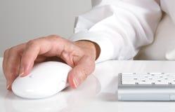 Bureau de main de clavier de souris photo libre de droits