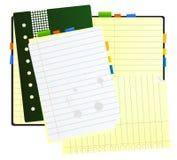 bureau de note de livre Image libre de droits