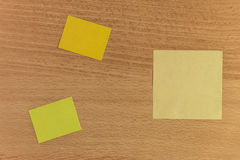 Bureau de post-it Image stock