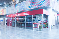 bureau de poste à l'aéroport Images libres de droits