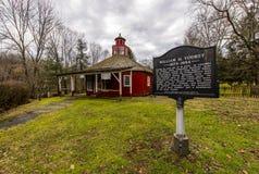 Bureau de poste, épicerie générale et école reconstitués - Fredericktown, Ohio Photographie stock libre de droits