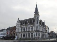 Bureau de poste - Lokeren - Belgique image libre de droits