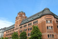 Bureau de poste, Stockholm Photos stock