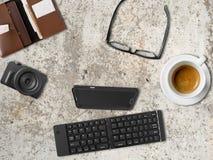 Bureau de smartphone de hippie mini Photo stock