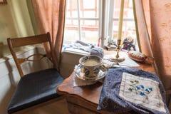 Bureau de tricotage photo libre de droits