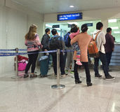 Bureau de visa d'atterrissage dans Ho Chi Minh City Airport, Vietnam Photo libre de droits
