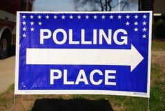 Bureau de vote Photographie stock
