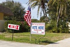 Bureau de vote d'électeur Photographie stock libre de droits