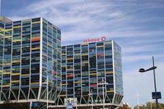 Bureau du groupe d'Achmea dans la ville de Leyde, une des plus grandes compagnies d'assurance aux Pays-Bas images stock