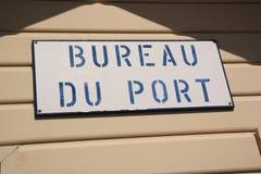 Bureau du port Stock Images