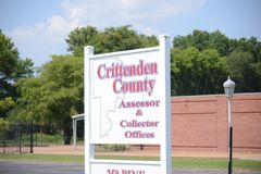 Bureau du ` s de percepteur du comté de Crittenden, Memphis occidental, Arkansas Images libres de droits