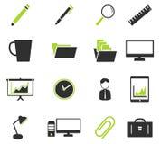Bureau eenvoudig pictogrammen Royalty-vrije Stock Afbeeldingen