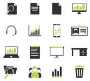 Bureau eenvoudig pictogrammen Stock Fotografie