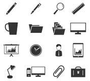 Bureau eenvoudig pictogrammen Stock Foto's