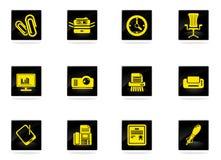 Bureau eenvoudig pictogrammen Royalty-vrije Stock Fotografie