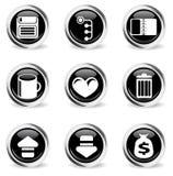 Bureau eenvoudig pictogrammen Stock Foto