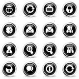 Bureau eenvoudig pictogrammen Royalty-vrije Stock Foto's